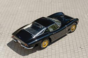 Фото Bizzarrini Старинные Черная Металлик Сверху 1966-67 5300 GT Strada Bertone машины