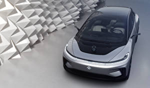 Фотография Серебристый 2017 Faraday Future FF 91 Автомобили