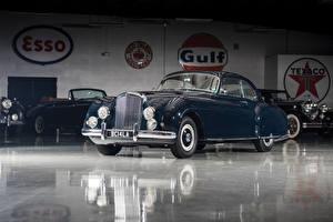 Обои Bentley Ретро Синий Металлик 1953-55 R-Type Continental Sports Saloon by Mulliner AT LHD Автомобили фото