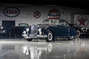 Фотографии Bentley Ретро Синие Металлик 1953-55 R-Type Continental Sports Saloon by Mulliner AT LHD Автомобили