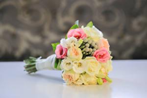 Картинки Букеты Розы Свадьба Цветы