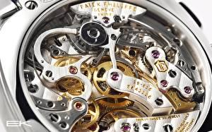 Фотография Часы Крупным планом Макросъёмка Механизмы Шестеренки