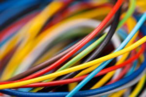 Картинки Вблизи Макро Электрический провод Разноцветные