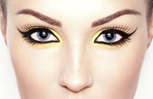 Фотографии Крупным планом Глаза Ресница Макро Лицо Макияж Взгляд Нос Девушки