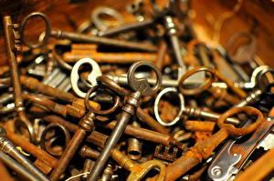 Фото Крупным планом Много Замковый ключ