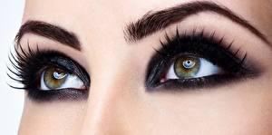 Обои Глаза Крупным планом Ресница Макияж Девушки фото