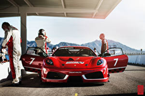 Обои Ferrari Спереди Красный Challage F430 Dream Racing Автомобили фото