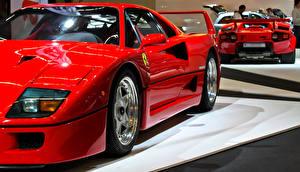 Фотографии Ferrari Красный F40 Авто