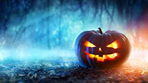 Обои Хеллоуин Тыква Праздники