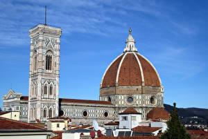 Обои Дома Италия Собор Купол Florence Cathedral of Saint Mary of the Flower Города фото