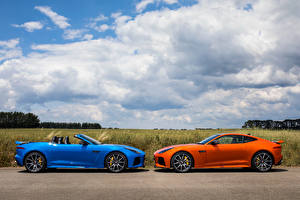 Обои Ягуар Двое Сбоку 2016 F-Type SVR авто