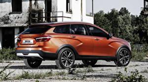 Обои Лада Российские авто Оранжевый Cross Concept Автомобили фото