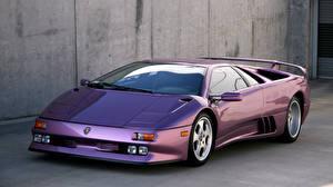 Картинки Lamborghini Фиолетовые 1994-95 Diablo SE30