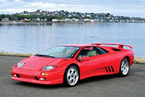 Фото Lamborghini Красный 1998-200 Diablo VT Автомобили