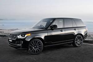 Обои Land Rover Черный Vogue Автомобили фото