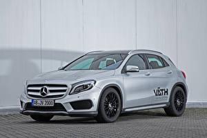 Фотография Mercedes-Benz Серебристый X156, 2015, GLA 200, VATH Автомобили