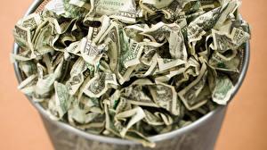 Обои Деньги Доллары Много Купюры Мусор фото