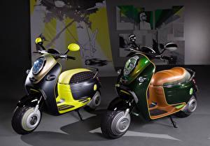 Картинки Скутер Двое 2010 MINI Scooter E Concept
