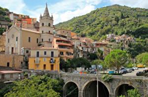 Фотографии Сицилия Италия Здания Мосты город