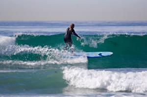 Обои Серфинг Волны Спорт фото