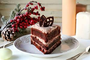 Обои Пирожное Сладости Торты Тарелка Кусок Еда фото