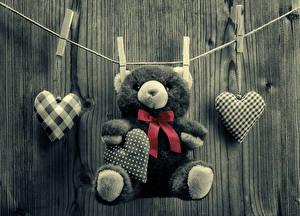 Картинки День всех влюблённых Мишки Сердце Бантик
