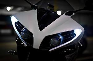 Обои Yamaha Спереди Фары Белый YZF Мотоциклы фото