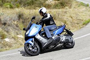 Обои BMW - Мотоциклы Мотоциклист Шлем 2012-16 C 600 Sport Мотоциклы фото