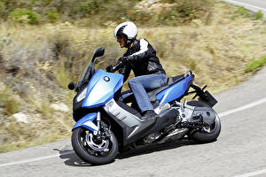 Обои БМВ Мотоциклист Шлем 2012-16 C 600 Sport