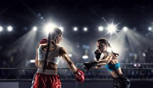 Обои Бокс Вдвоем Лучи света Девушки