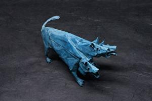Картинки Оригами Бумага Cerberus