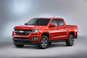 Обои Chevrolet Красный 2015, Diesel, Duramax, Colorado, Crew Cab, Chevrolet, Z71 Автомобили фото