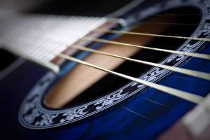 Картинки Крупным планом Макро Гитара