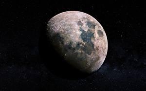 Картинка Крупным планом Луна Космос