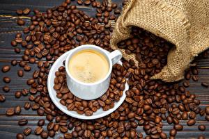 Обои Кофе Чашка Зерна Еда фото
