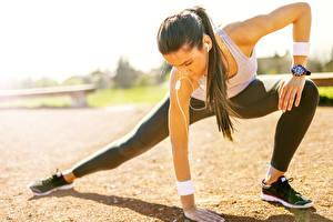 Картинка Фитнес Гимнастика Растяжка упражнение спортивный