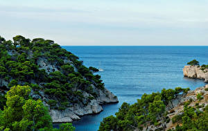 Обои Франция Море Calanque Port Miou Provence Природа фото