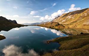 Обои Германия Озеро Горы Небо Пейзаж Альпы Природа фото