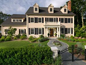 Обои Дома Ландшафт Особняк Дизайн Города фото