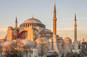 Обои Стамбул Турция Храмы Мечеть город
