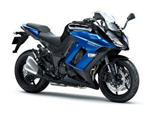 Картинки Kawasaki Крупным планом Белый фон 2011-16 Z1000SX Мотоциклы