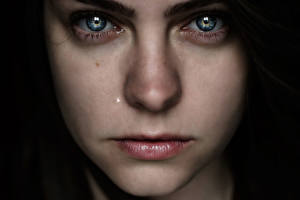 Картинки Губы Глаза Лицо Нос Взгляд Lauren Bates Девушки