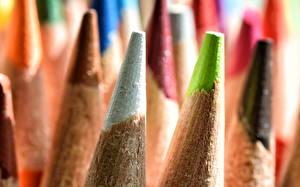 Обои Макро Крупным планом Карандаши Разноцветные