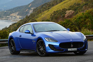 Обои Maserati Pininfarina Синий MC Sportline Автомобили