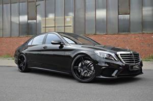 Фото Мерседес бенц Черные Металлик MEC Design, AMG, S-Class, W222 Автомобили