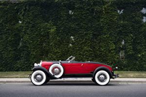 Фото Старинные Кабриолет Сбоку Металлик 1929 Auburn 8-90 Boattail Speedster Авто