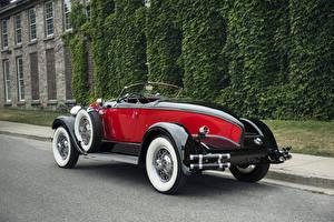 Картинка Старинные Кабриолет Сзади Металлик 1929 Auburn 8-90 Boattail Speedster Автомобили