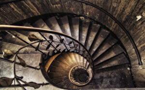 Фотографии Ретро Лестница Сверху