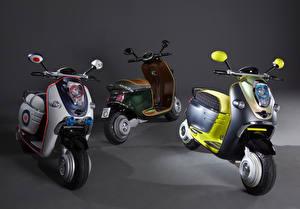 Обои Скутер Трое 3 2010 MINI Scooter E Concept Мотоциклы фото
