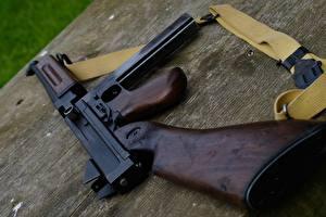 Фотография Пистолет-пулемёт Вблизи Thompson Caliber .45 Армия